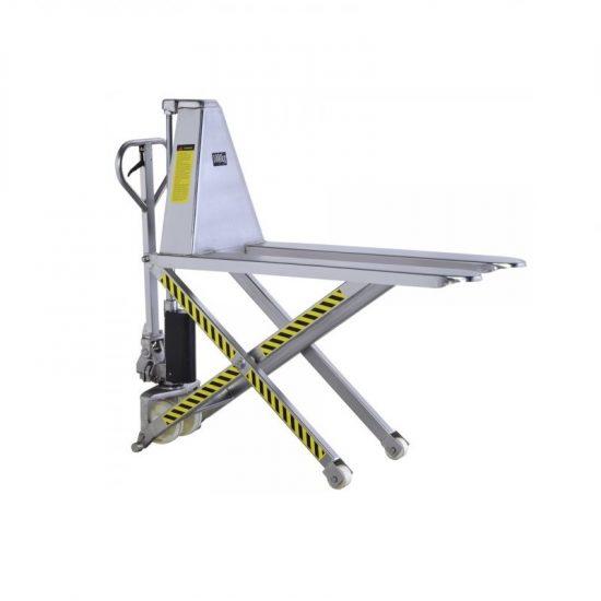 Nerezový nůžkový paletový vozík JF-NR